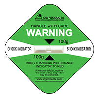Shock Label Indicator Verde